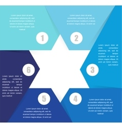 David Star design template and infographics vector image