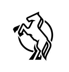 horse logo symbol vector image vector image