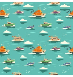 Seamless pattern with ships vector image vector image