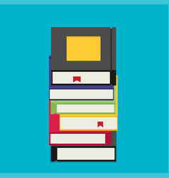 Set of books in flat design style vector