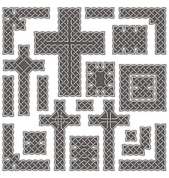 celtic borders vector image vector image
