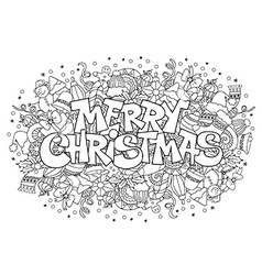 Christmas doodle vector image