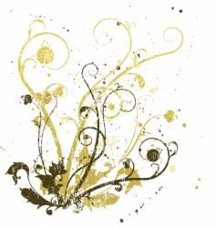 distressed swirls vector image vector image