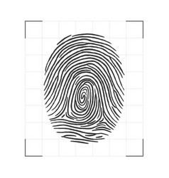 fingerprint - personal id scanning biometric vector image