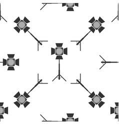 movie spotlight seamless pattern light effect vector image vector image