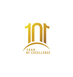 101 year excellence template design vector
