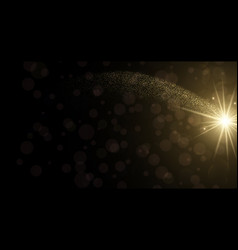 Abstract bokeh background with golden light vector