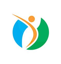 abstract circle ecology logo concept image vector image