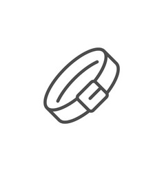 animal collar line icon vector image