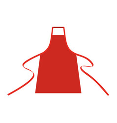 Apron mockup chef bbq template cooking vector