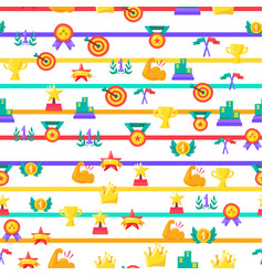 awards seamless color pattern vector image