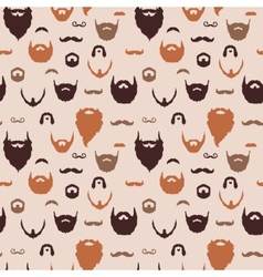 Beards and Mustaches pattern vector image