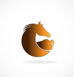 Brown horse isolated icon vector