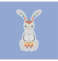 Bunny Wearing Tribal Clothing vector image