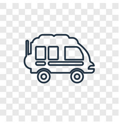 camper concept linear icon isolated on vector image