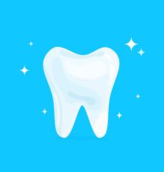cartoon healthy bright shining tooth concept of vector image