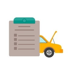 Checked Items in Car vector