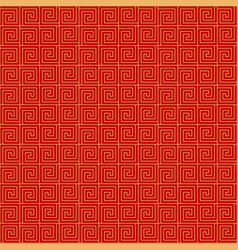 chinese seamless pattern red and golden chinese vector image