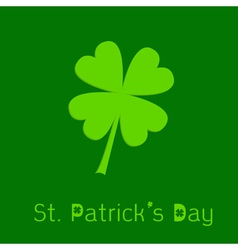 Clover leaf 3D effect st patricks day vector