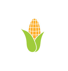 corn icon - heaithy food symbol - flat vector image
