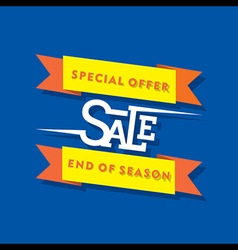 creative special offer sale banner design vector image