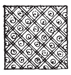 Cross hatched damaskeening is a effect of the vector
