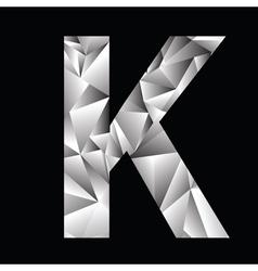 Crystal letter K vector