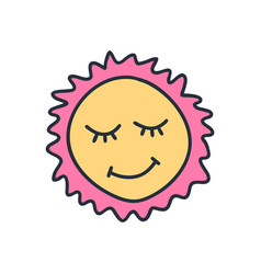 Drawing happy smiling sun funny greetings for vector
