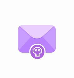 email emoji letter mail message send skull icon vector image