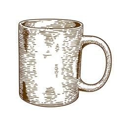 engraving mug vector image
