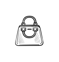 female handbag hand drawn sketch icon vector image