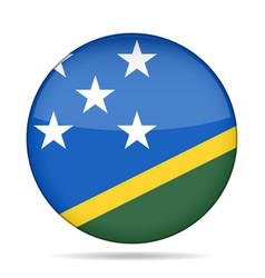Flag of solomon islands shiny round button vector