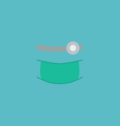Flat icon orthodontist element vector
