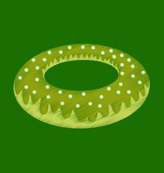 Flat shading style icon donut vector