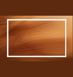 Frame template design with wooden board vector
