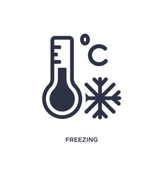 Freezing icon on white background simple element vector
