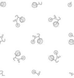 girl tricycle pattern seamless vector image
