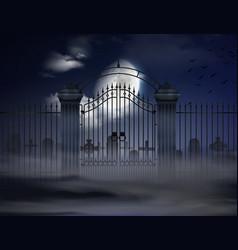 Halloween realistic background vector