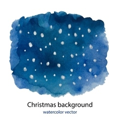 Hand painted Blue dark watercolor Christmas vector