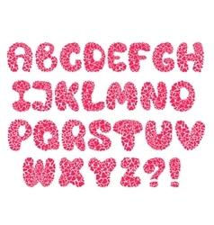 hearts alphabet vector image