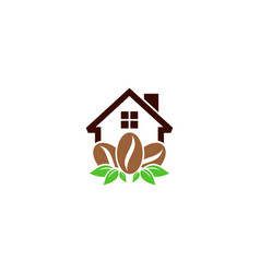home coffee logo icon design vector image