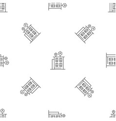 Intelligent building pattern seamless vector