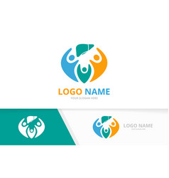 liver and family logo combination unique vector image