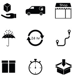 logitstice icon set vector image
