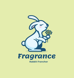 logo fragrance simple mascot style vector image