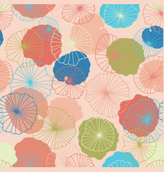 Lotus flower leaves in a pond seamless pattern vector