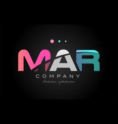 mar m a r three letter logo icon design vector image