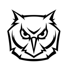 mascot stylized owl head vector image