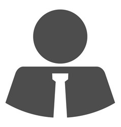 Mister flat icon symbol vector