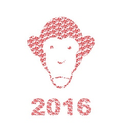 Monkey of Chinese characters Chinese new year vector image